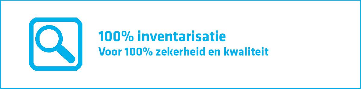 100% inventarisatie