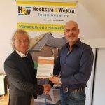 Hoekstra & Westra Totaalbouw b.v. ontvangt D.O.E.-certificaat