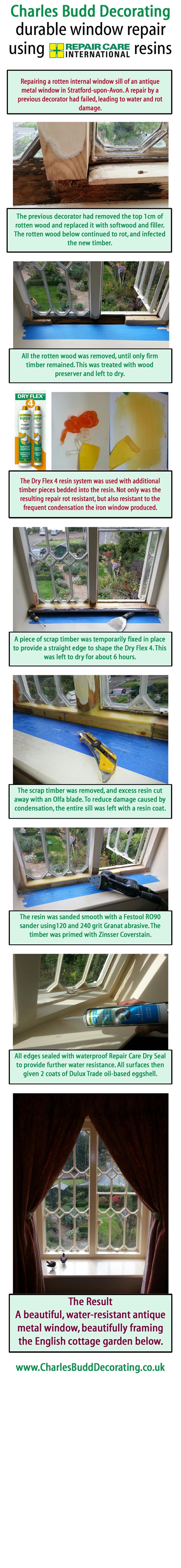 Interior window repair